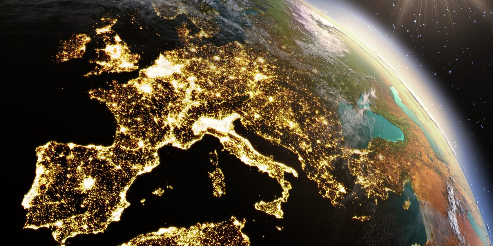 Planet Earth Europe zone. Elements of this image furnished by NASA